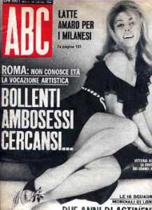 Allunnaggio Agrodolce. Copertina rivista ABC 20 Febbraio 1966