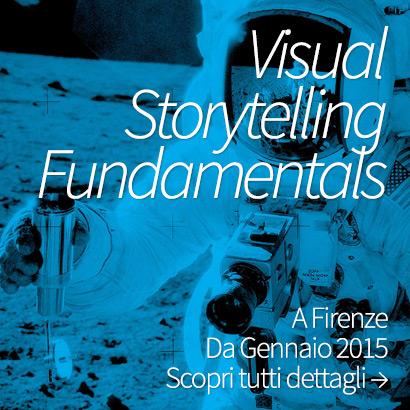 Visual Storytelling Fundamentals è un corso ad alta densità aperto a tutti, non solo professionisti, dove vengono poste le fondamenta dello storytelling per imparare a raccontare attraverso il linguaggio delle immagini.