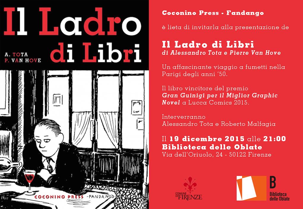 Il Ladro di Libri – Presentazione con Alessandro Tota
